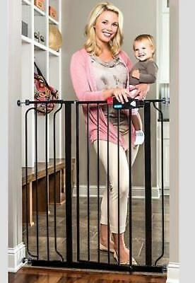 Extra Tall Deluxe Gate Safety Walk Baby Infant Child Stairs Thru Pet Dog Home