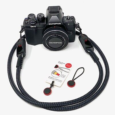 """Cordy Slim"" Rope & Leather Camera Strap 48in/122cm Peak Design Anchor Links AL3"