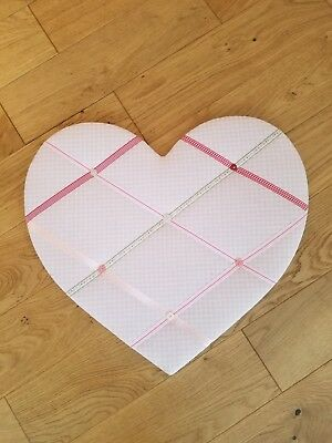The Little White Company Store Pin Board Light Pink Gingham