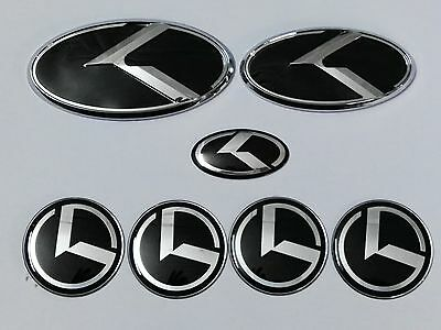 7pcs/set New 3D black K logo badge emblem for KIA OPTIMA K5 2011-2016
