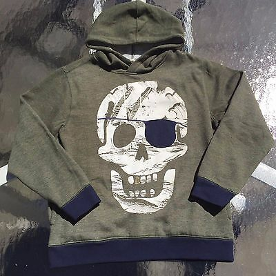 """Gymboree Awesome Boys Green """"SKULL""""  Hoodie. 7-8 years NEW!! Very Unique!!"""