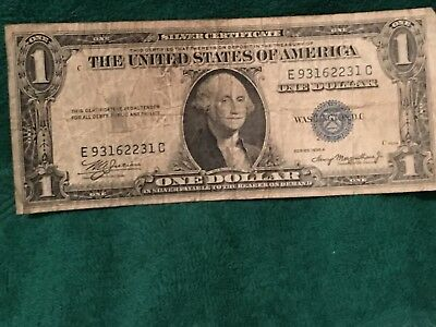 1935-A $1.00 Silver Certificate Blue Seal Note One Dollar Bill LOOK!