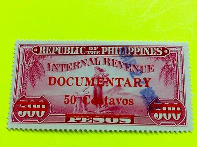 Philippines Stamp Documentary Revenue Barefoot #264 used 50c/500p 1960 cv $53 ^^