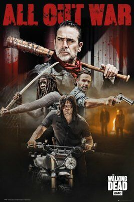 The Walking Dead All Out War Negan Rick  91.5X61Cm Poster New Official Merch