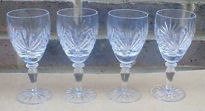 4 X Crystal Wine Glasses