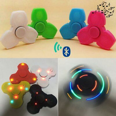 LED Light Flashing Hand Spinner Triangle With Wireless Bluetooth Speaker