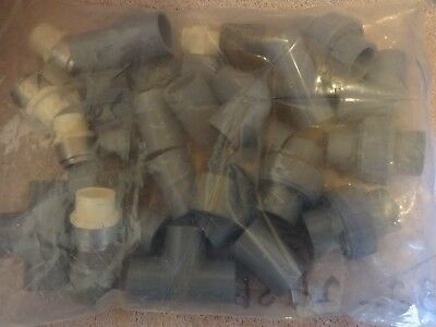 "3/4"" Cpvc Sch 80 Parts Lot, Elbows, Unions, Tees, Couplings (New)"