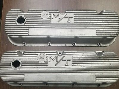 Big Block Chevy Mickey Thompson finned 427 valve covers 3276396 Gassed Rod