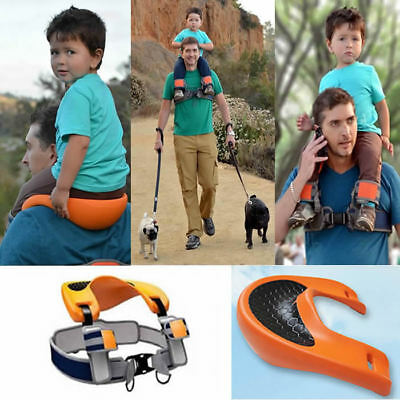 Shoulder Carrier Seat  Saddle Kids Child Baby Orange Hands Ankle Straps Boxed