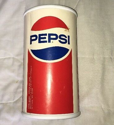 """Vintage Pepsi Reusable Coin Bank No. 2199 9.5"""" T x 5.25"""" W Pre-Owned"""