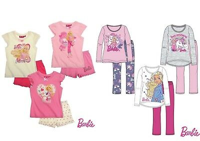 Girls Baby Toddler Children Barbie Short Long Pyjamas Pjs Set Age 2-8 years