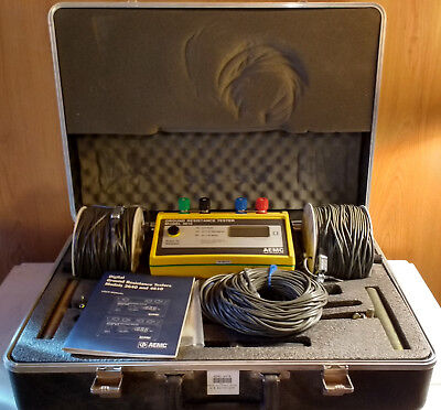 AEMC 4610 Ground Resistance Tester Kit, w/Case and Accessories