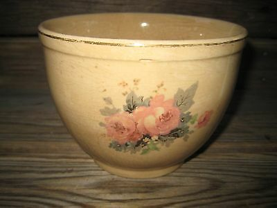 "Cambridge Universal Bowl 4 1/2"" X 6"" Rare Rose Pattern Vintage Oven Proof"
