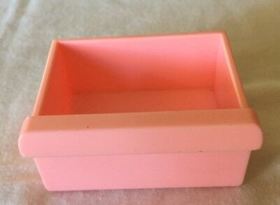 Vintage Playskool Dollhouse Replacement Drawer For Refrigerator