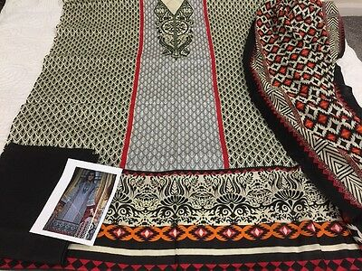 Indian Pakistani designer Taj LAWN COLLECTION UN-STITCHED SHALWAR KAMEEZ SUIT As