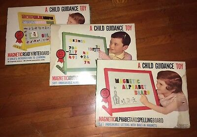 Lot of 3 1960s Child Guidance Magnetic Boards