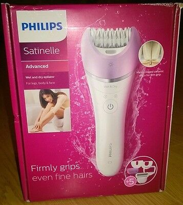 Philips Satinelle BRE630/00 Advanced Wet and Dry Epilator with 5 Attachments