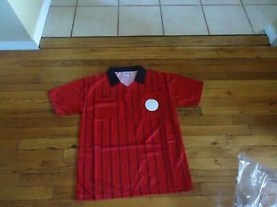 Olympus Referee Jersey Shirt Red/Black Men's size M Short Sleeve New In Package