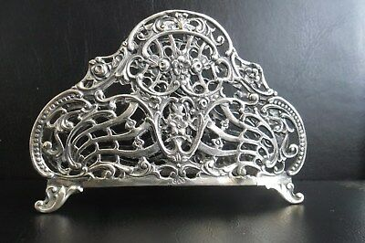 Antique Sterling Silver Filigree 18th Century Napkin Holder,46 Grams