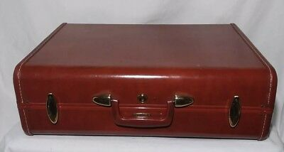 Vintage Samsonite Brown Hardside Suitcase Small Train Case Luggage 15""