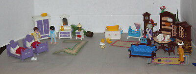 Huge lot of Playmobil Victorian Mansion Style accessories & Furniture rugs, etc.