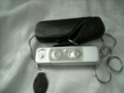 Vintage 1960's Minox Spy Camera with Case and Strap