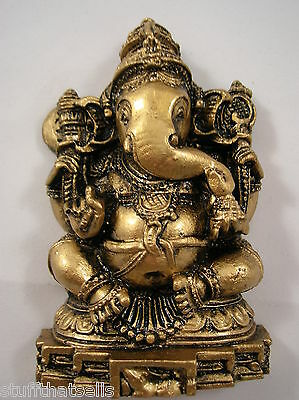 """Ganesha Statue - 3.75"""" - Remover of Obstacles - Resin"""