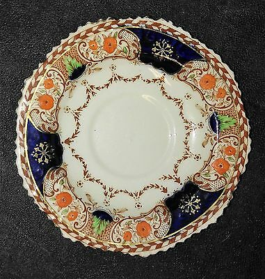 Royal Stafford Bone China England Saucer Orange and Blue No Imperfections