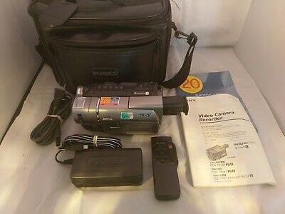 Sony CCD-TRV57 Handycam Video8 XR 8mm Camcorder Recorder 20x Optical Zoom BUNDLE