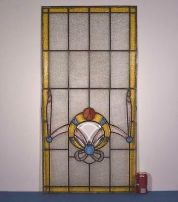 *Antique French Stained Glass Panel with Ribbons