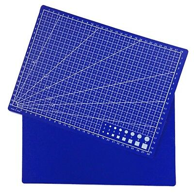 A4 Printed Grid Lines Cutting Mat Leather Paper Board Scale Plate Stationery Set