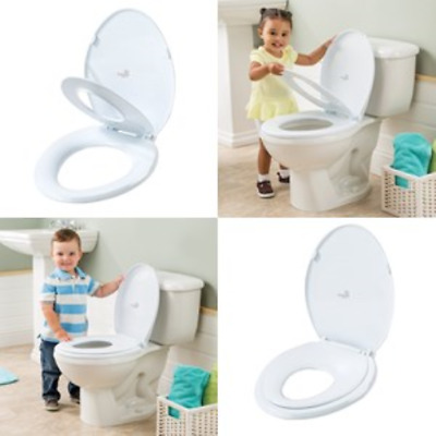 Toilet Child Training Seat Oval Built in Potty Cover Baby Toddler Kid Trainer .