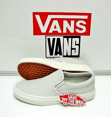 b817c8f3a8a9d3 Vans Classic Slip On Embossed Leather Glacier VN0A38F7MU0 Women s Size  9