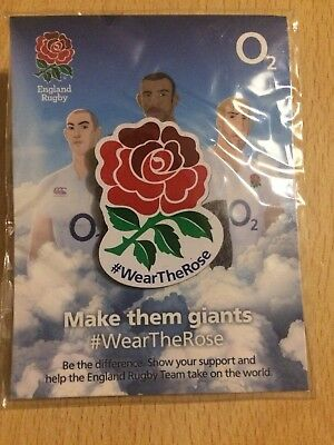 England Rugby Union Pin Badge - Wear The Rose - New + Sealed