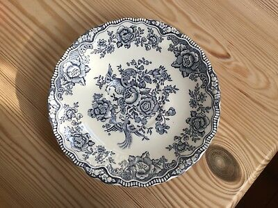 Vintage Crown Ducal Bristol blue and white saucer 5.75""
