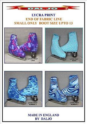 Ice Skating / Roller Skating  Lycra Print Boot Covers Small Only Fabric End