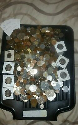 World Foreign coins Collection 10 Pounds including uncirculared coins