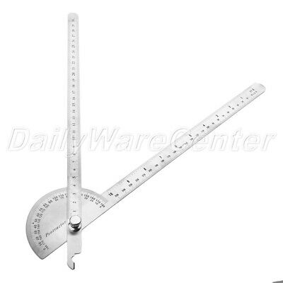 New 0-180°Angle Finder Ruler Protractor Gauge Craftsman Machinist Measuring Tool