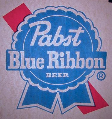 Pabst Blue Ribbon Beer - Vintage Early 70's T-Shirt Iron-On Transfer