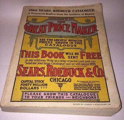1908 Sears Roebuck Catalog (Reprint From 1969)