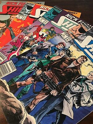 Near Mint, Marvel Nick Fury Agent of Shield, 1989, Issue 1-8, NM