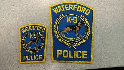 Waterford Connecticut K-9 police patch set