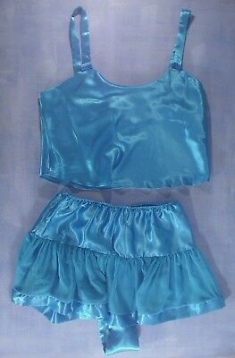 Vintage Marshall Field's Amelia's Camisole and Tap Pant Set Size Small in Blue