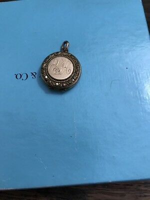 Antique Vintage Victorian Gf Gold Filled Picture Locket Repousse Estate Find