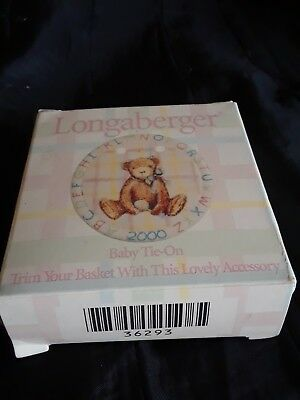 LONGABERGER BABY Pottery Tie On 2000 with ribbons and box