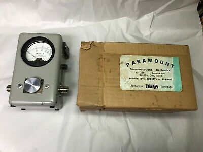 Nice Bird Model 43 Wattmeter In Original Box, Excellent Working Condition