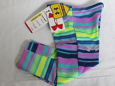 Under Armour HeatGear Collection Multi Striped Capri Pants Youth Girls YSM