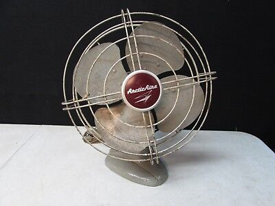 Vintage 12 Inch Fasco / Arctic Metal Oscillating Fan Model D9127