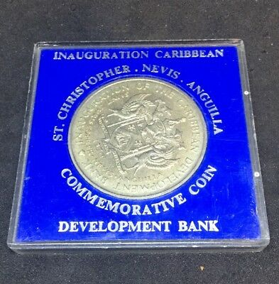 ST CHRISTOPHER NEVIS ANGUILLA $4 GROW MORE FOOD CARIBBEAN COIN Mint Dma12