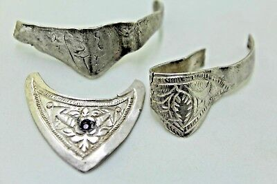ANCIENT ROMAN SILVER PIECES OF APPLICATIONS, RINGS.   1v529